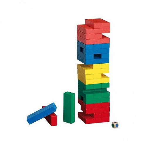 Juego Torre de Madera de Colores 54 Pzs 3a+