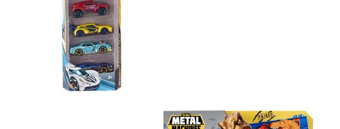 Combo(Carro Metal Machines Set de 5,Pista Metal Machines Ataque Raptor)