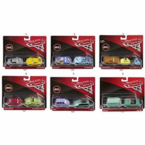 Carro Personajes Cars 3 Set de 2 3a+ Surt de 7