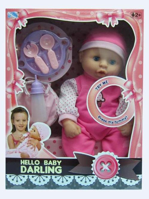 Bebé Darling con Movimientos y Accesorios 2a+ CJ 6