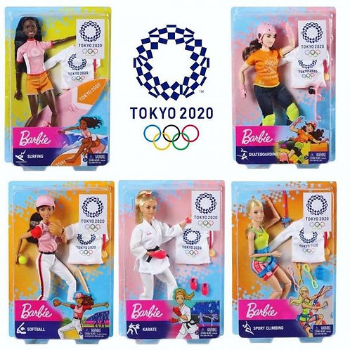 Barbie Muñeca Juegos Olimpicos Tokio 2020 Surt/3 3a+