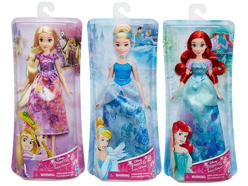 Muñeca Princesas Disney Brillo Real Surt/3 3a+