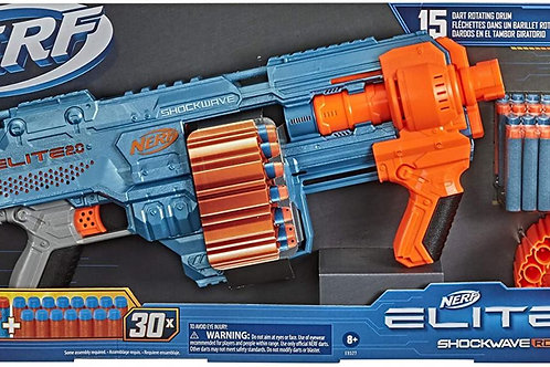 Lanzador Nerf Elite 2.0 Shockwake RD-15 8a+