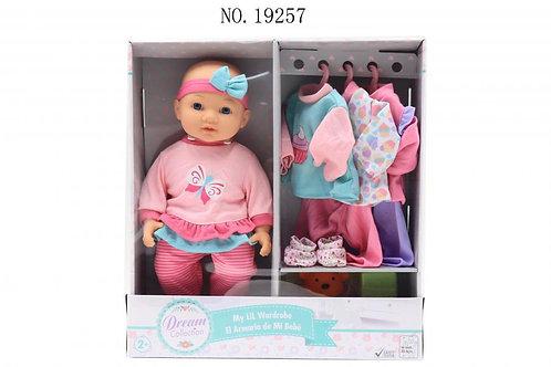 Bebé con Armario y Accesorios 35,5cm 2a+