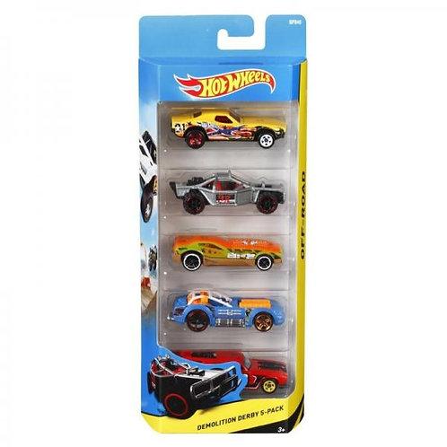 Carro Hot Wheels Set de 5 Surtido 3+
