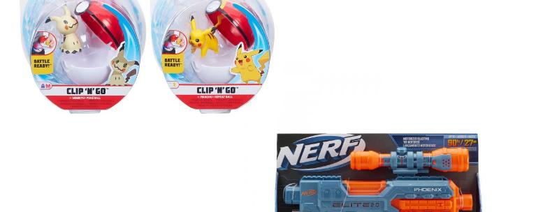 Combo(Lanzador Ner Elite 2.0 Phoenix,Figura Pokémon con Pokébola Clip´N´Go)