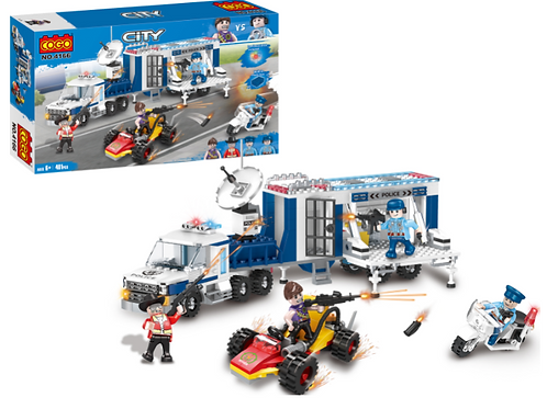 Camión y vehículos de Policía City 401pzs 6a+
