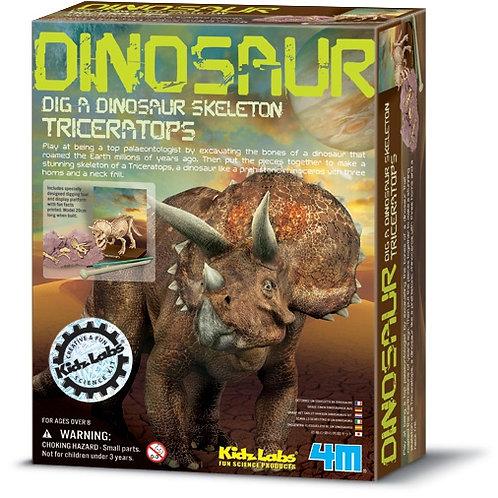 KidzlLabs Cava y Arma Tu Fósil de Triceratops 8a+