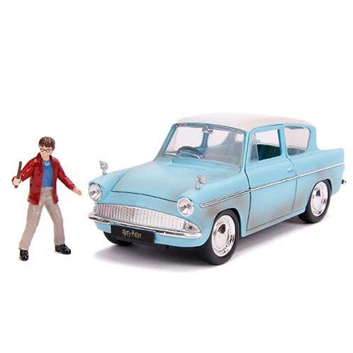 Mini Figura Harry Potter y Carro Ford Anglia 1959 8a+