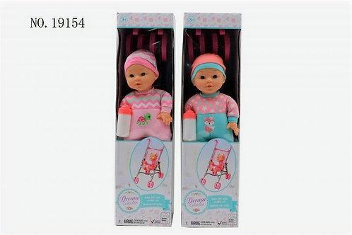 Bebé con Coche 33cm S/2 3a+