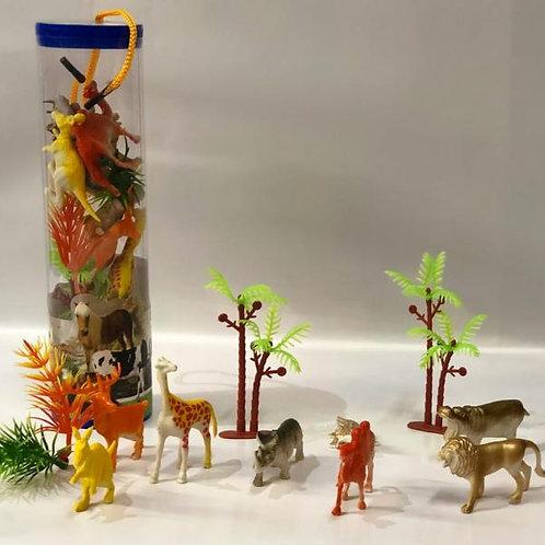 Mini Animales de la Selva con Estuche Cilindrico Display/6 3a+(438629)
