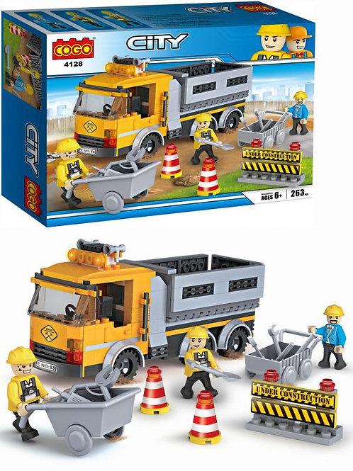 Camión de Construcción Armable Set de Juego 263pzs 6a+