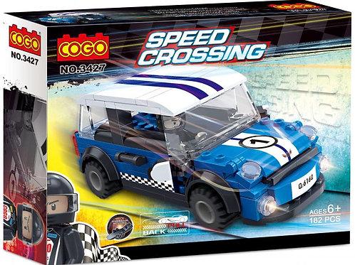 Carro Speed Crossing Azul 182pzs 6a+
