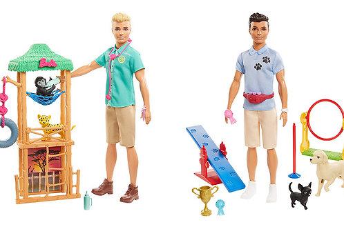 Muñeco Ken Barbie Profesiones Veterinario-Adiestrador de Perros Surt/2 3a+