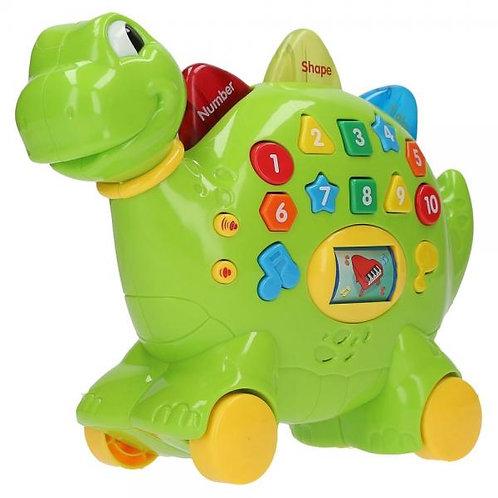 Dinosaurio Bilingue Educativo Verde 12m+