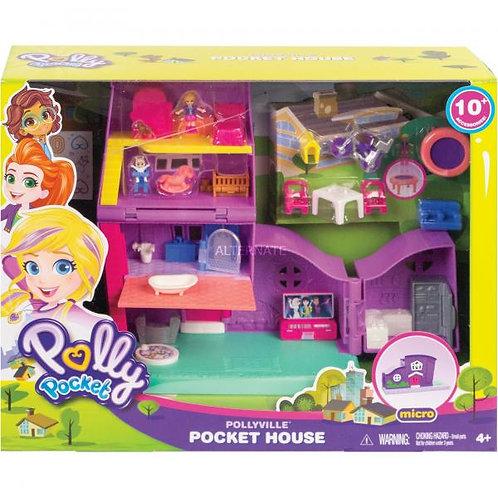 Casa de Pollyville Polly Pocket con Accesorios. 4a+