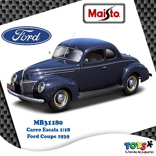 Carro 1:18 1939 Ford Coupe 1939 3a+