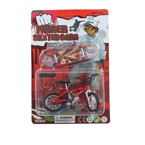 Mini Bicicleta y Patineta de Dedo Set/2 Surtido 9a+(438186)