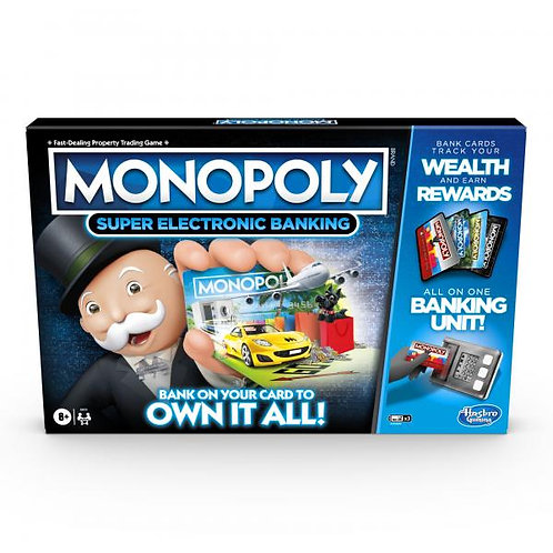 Juego de Mesa Monopoly Súper Banco Electrónico 8a+