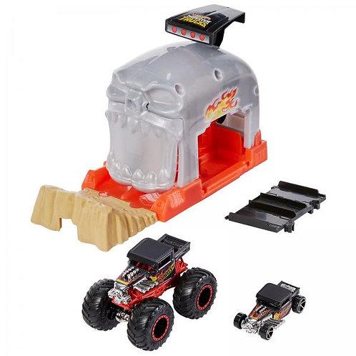 Hot Wheels Monster Truck Lanzador 2en1 Surt/2 4a+