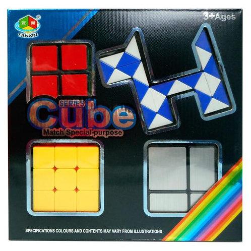 Cubos Mágico Set/4 C/Caja 3a+(433679)
