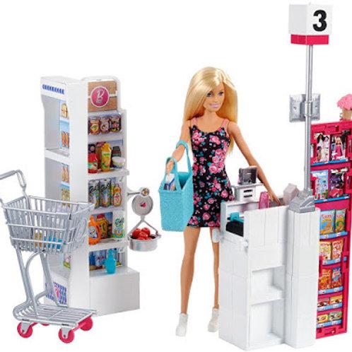 Muñeca Barbie Super Mercado 25pzs 3a+