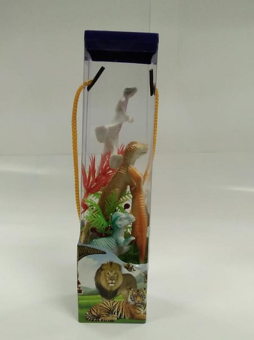 Mini Dinosaurios de la Selva con Estuche Cuadrado Display/6 3a+(438636)