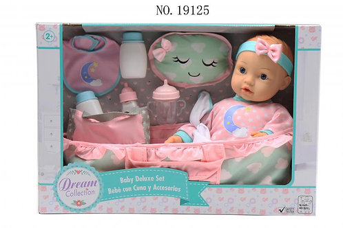 Dream Collection Bebé con Cuna y Accesorios 40,5cm 2a+