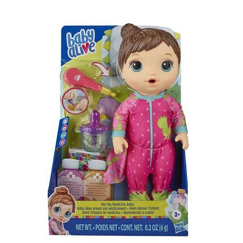Baby Alive Bebé Prepara mi Medicina Pijama Rosada 3a+