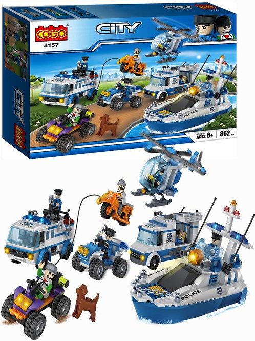 City Vehículos Policiales 862pzs 6a+