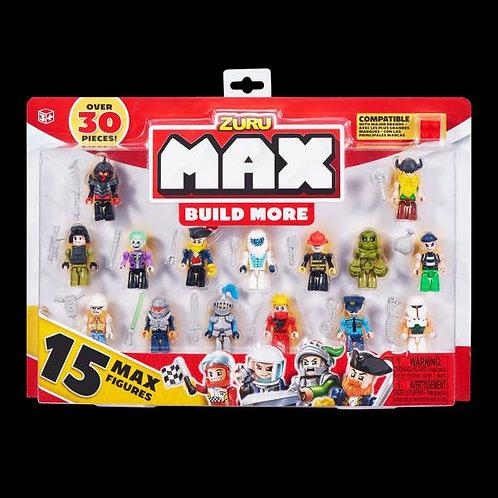 Mini Figuras Max Build More Set/15 Surtido 3a+