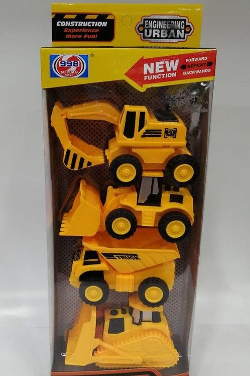 Mini Vehículos de Construcción Set de 4 3a+ (437943)