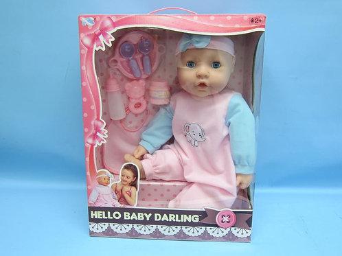 Bebé Hello Darling con Accesorios de Alimentación 2a+