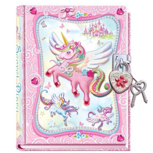 Diario con Candado Unicornio 6a+