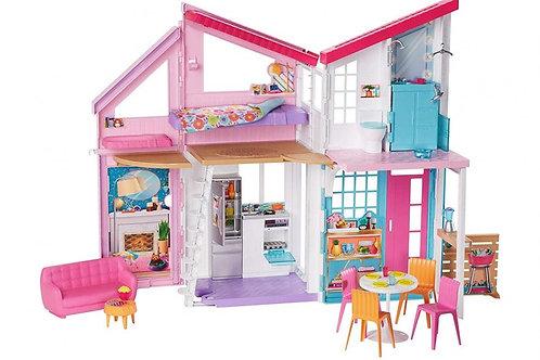 Barbie Casa Malibu 61cm 6 Cuartos 25 Accesorios 3a+