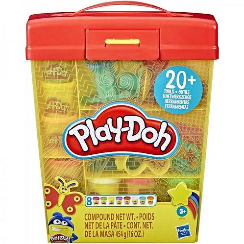 Play-Doh Plasticinas y Herramientas Caja Larga 20pzs 3a+