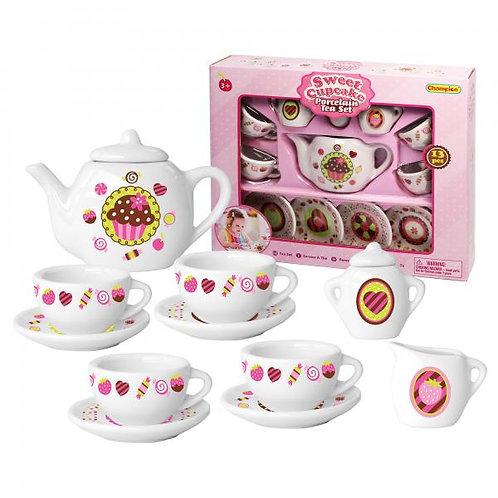 Juego de Té de Porcelana Sweet Cupcake 13pzs 8a+