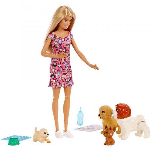 Muñeca Barbie Guardería de Perritos 3a+