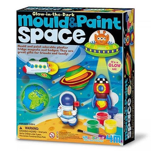 Juego de Pintar y Moldear con Yeso del Espacio 5a+