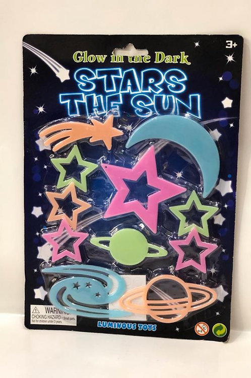 Estrellas Brillan en la Oscuridad de Colores Surt/2 3a+(432580)