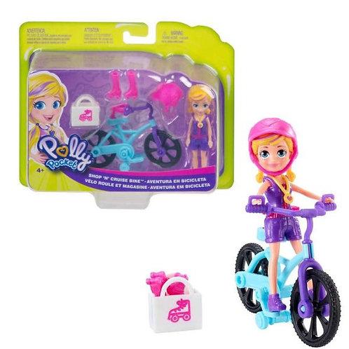 Polly Pocket Muñeca Aventura Sobre Ruedas (Moto-Bicicleta) Surt/2 4a+