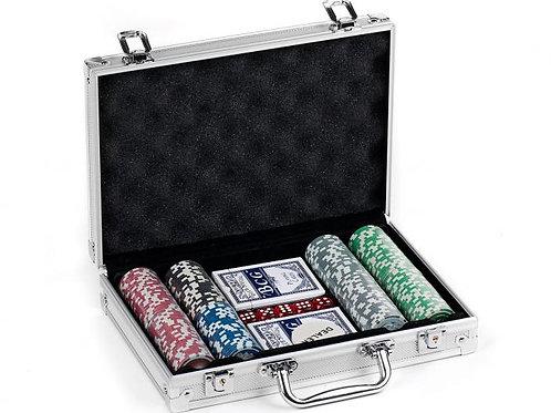 Juego de Poker Caja de Aluminio Deluxe