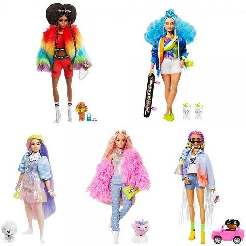 Barbie Extra Mascota y Accesorios c/Estilo S/3 3a+