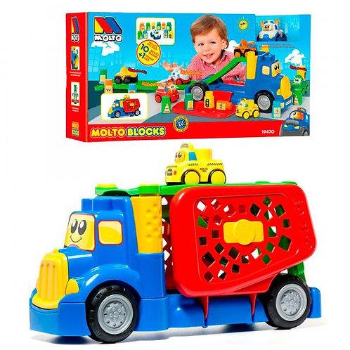 CamiónTransportador con 10 Bloques y un Carro 1a+