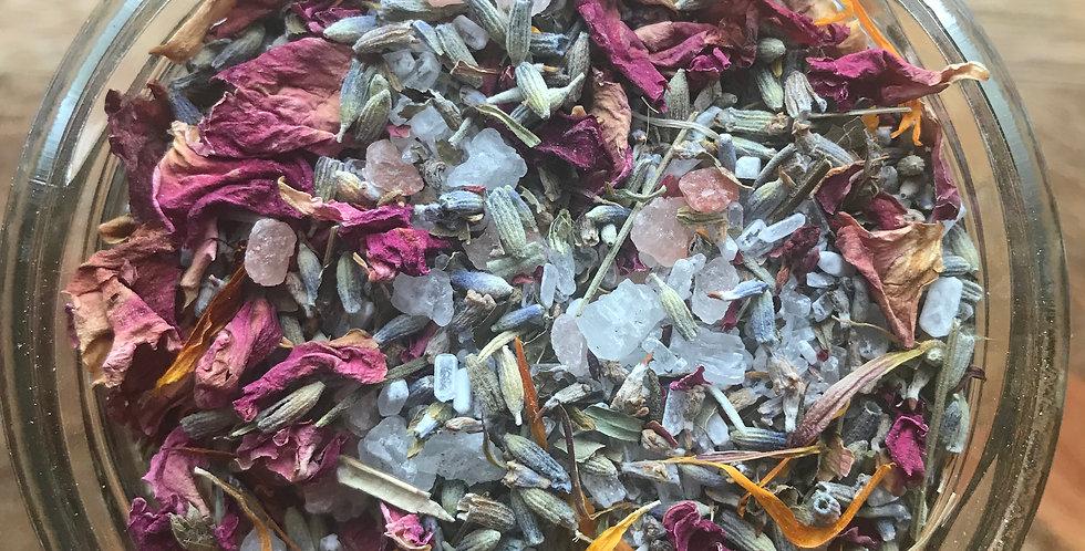 garden botanical bath tea