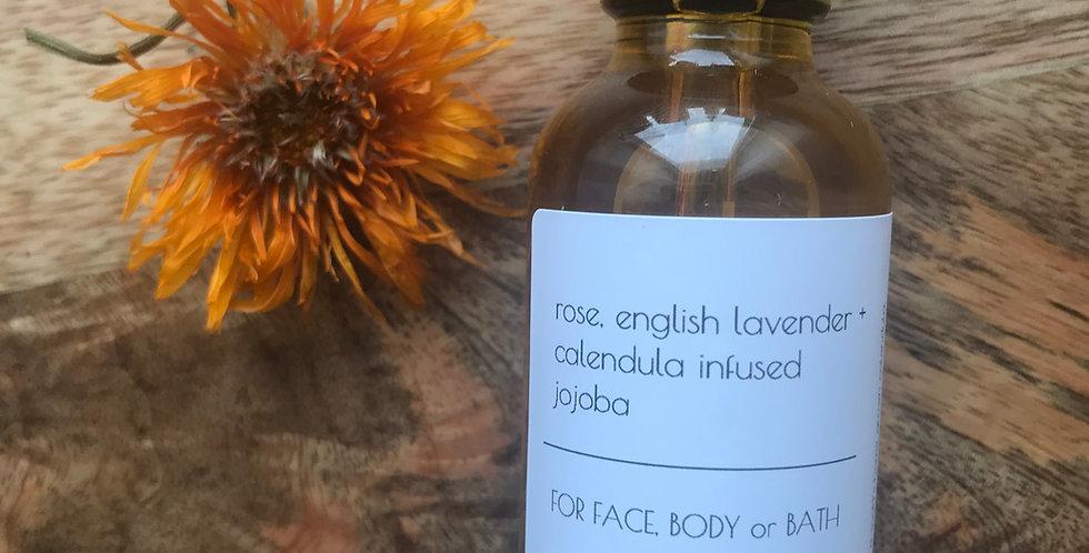 rose, lavender + calendula infused jojoba