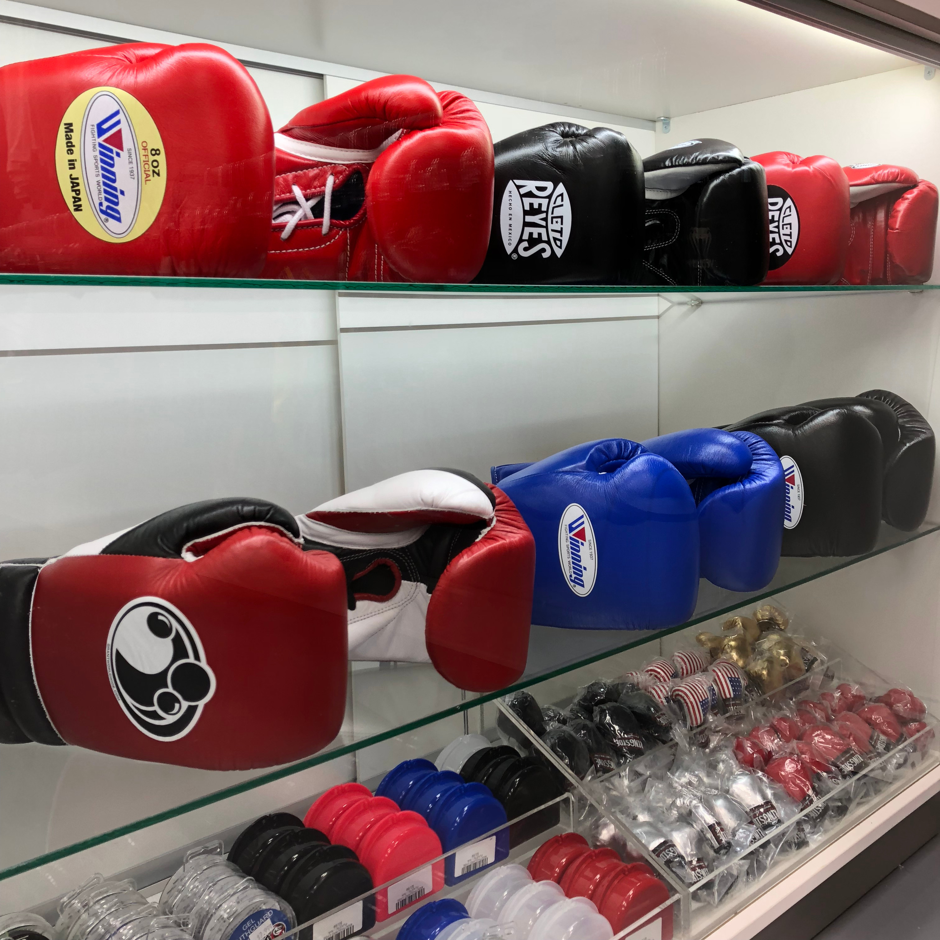 Grants Winning and Cleto Reyes Boxing Gloves
