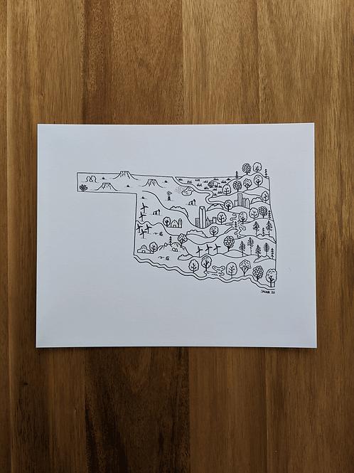 Oklahoma Map 2020 - print