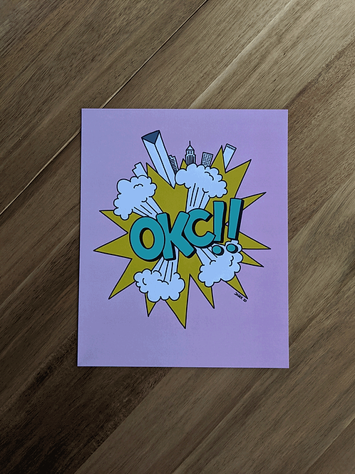 OKC!! Pink Turquoise - print