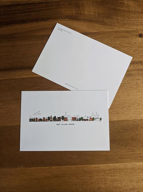 East Village, Chicago - postcard